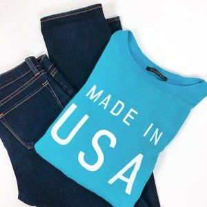 Wildfox Made in the USA Turquoise Sweatshirt NWOT